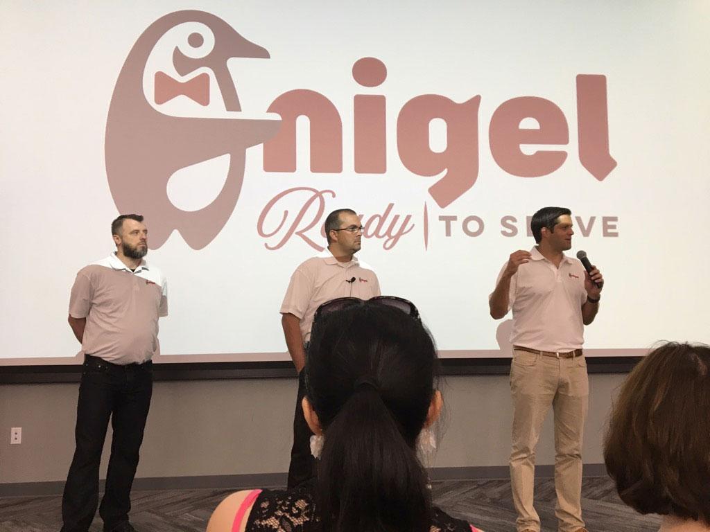 Jon Rolph presenting Nigel